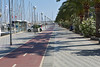 Palma de Mallorca bicycle path along waterfront
