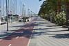 Palma de Mallorca bicycle path along waterfront