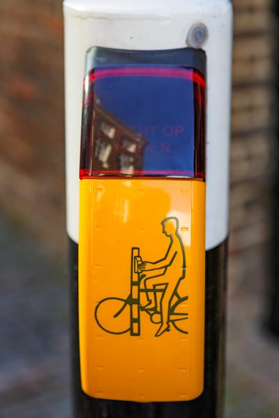 Cycling traffic light in Utrecht, Netherlands