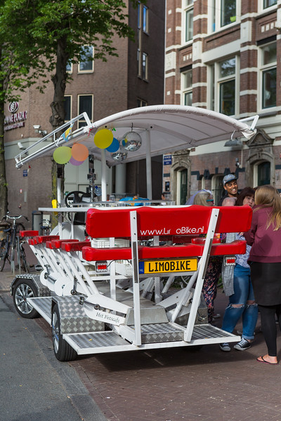 Limo bike in Amsterdam, Netherlands
