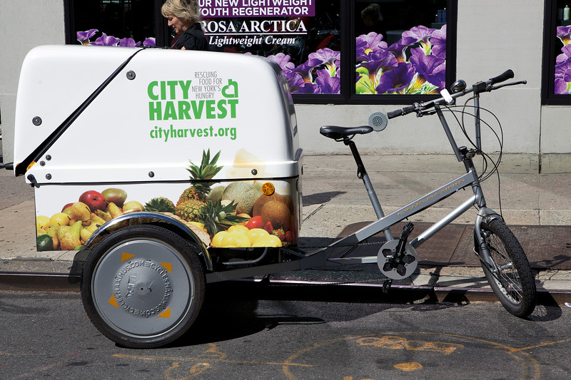 City Harvest tricycle in Manhattan, New York