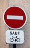 No entry except bicycles - Chartres, France
