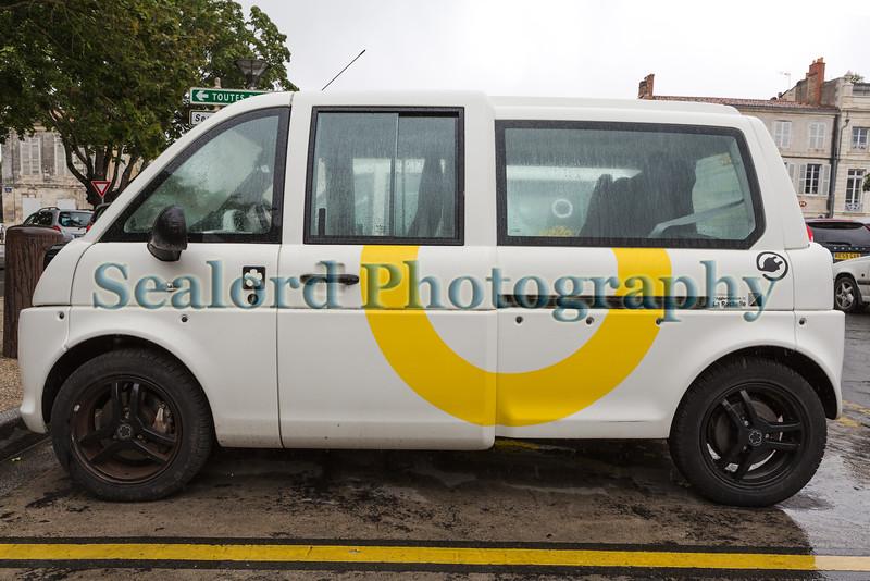 Mia electric vehicle in La Rochelle, France on 28 July 2015