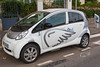 Auto Bleue electric car sharing service in the Nice area