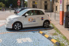 electric Fiat 500 in the City Car Club scheme in Turin, Italy