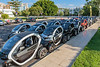 Renault Twizy's for hire from Hertz at Palma, Mallorca passenger ship terminal