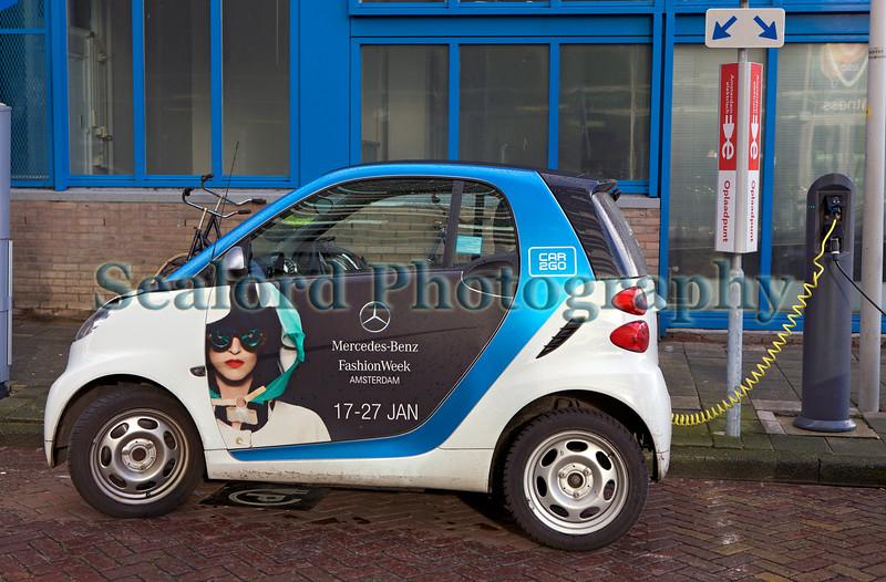 Car2Go electric Smart car in Amsterdam, Netherlands