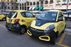 An electric car Share'NGO station in Milan, Italy