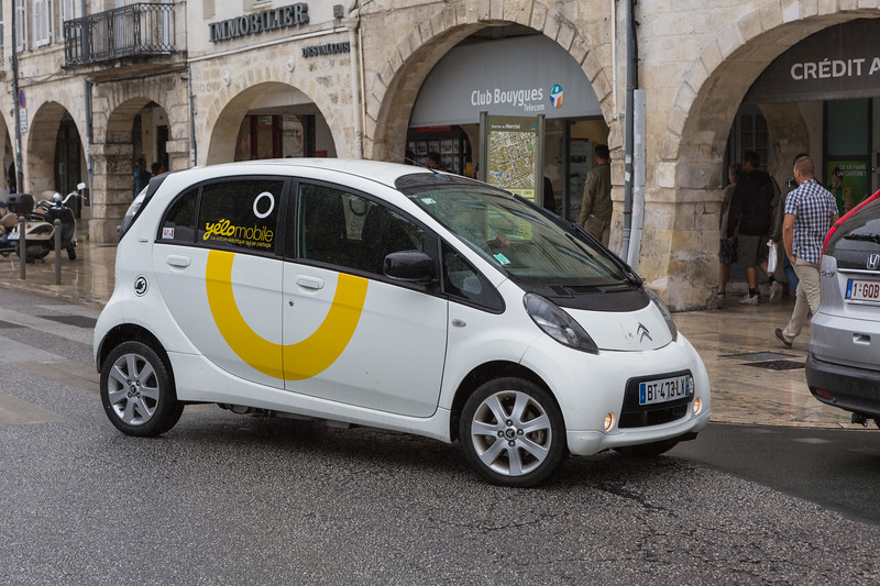 yelomobile Citroen C Zero electric car La Rochelle France 280715 ©RLLord 8649 smg