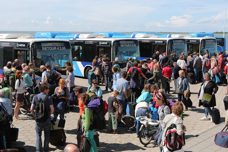 BYD electric buses operated by Arriva on the island of Schiermonnikoog, Netherlands
