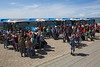 BYD electric buses passengers boarding Schiermonnikoog 150814 ©RLLord 7845 smg