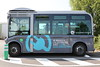 TUL electric battery powered Bluebus in Laval, Brittany, France