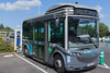 electric Bluebus charging TUL bus depot Laval Brittany France 040814 ©RLLord 5822 smg