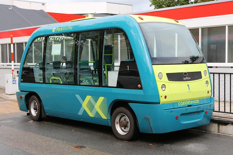 Electric, driverless ParkShuttle in Rotterdam, Netherlands