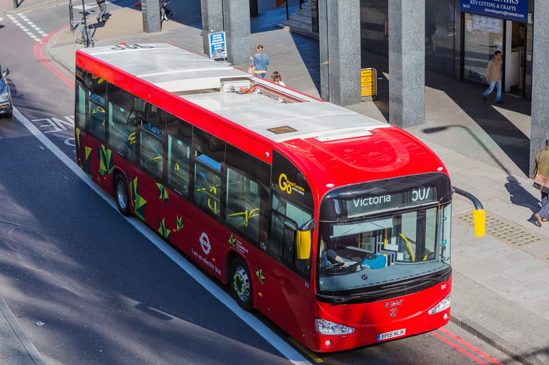Irizar i2e electric bus on route 507 in London