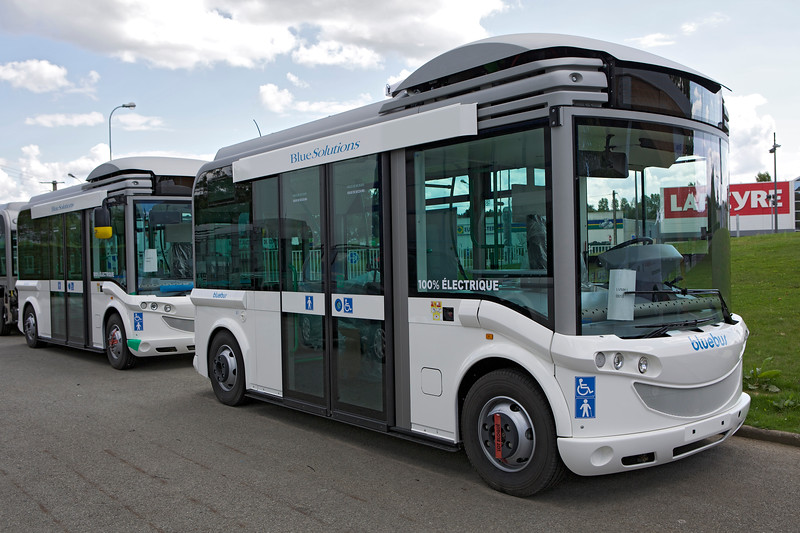 Electric bluebus assembled in Laval, France