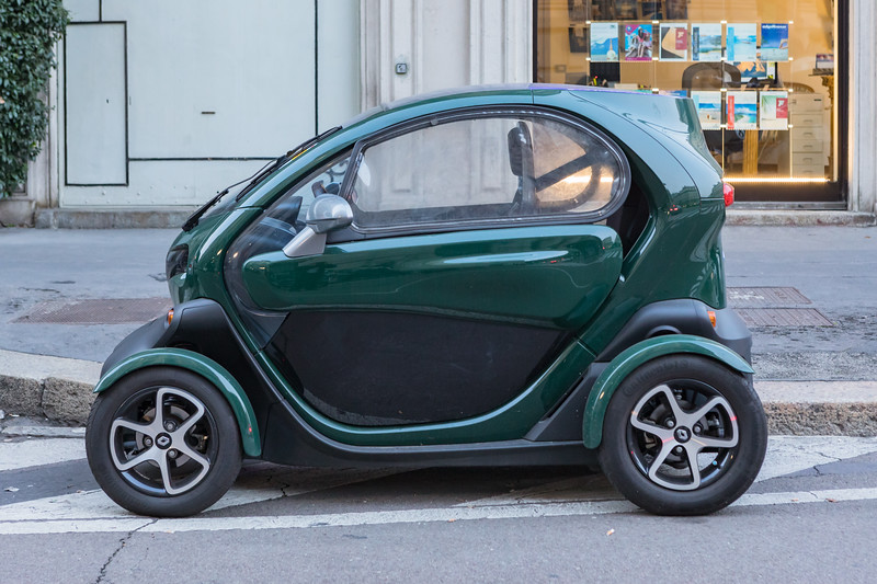 electric Renault Twizy in Milan, Italy
