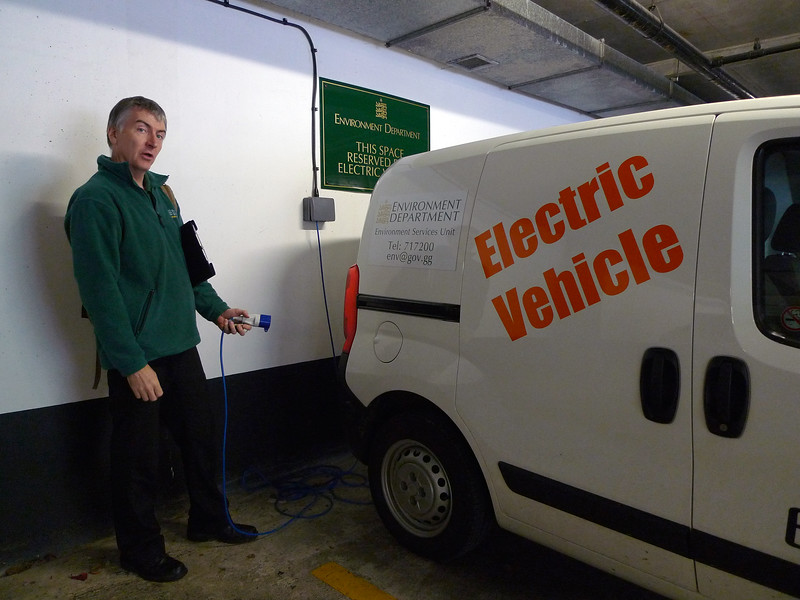 An electric Citroen Nemo van operated by the Environment Department of the States of Guernsey