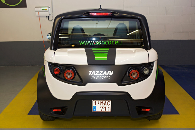 Tazzari electric car used by Zen Car electric car sharing in Brussels