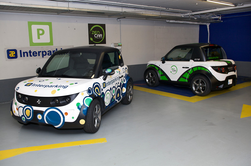 Tazzari electric cars used by Zen Car sharing in Brussels, Belgium