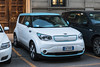 Kia Soul electric car in Milan, Italy