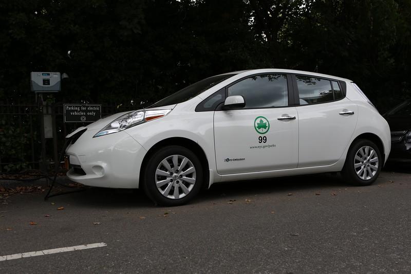 Nissan Leaf in Central Park, New York City