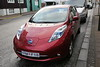 Nissan Leaf electric car in Reykjavik, Iceland
