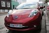 Nissan Leaf electric car in Reykjavik, Iceland