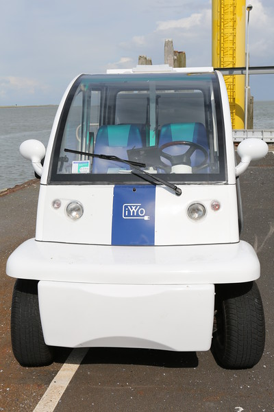 Electric iYYo at the ferry terminal in Schiermonnikoog, Netherlands