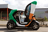 Test driving an electric Renault Twizy on 14 August 2012
