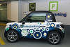 Tazzari electric car used by Zen car sharing in Brussels, Belgium