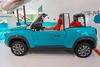 E-Mehari electric car in the Citroen showroom on Avenue des Champs-Élysées