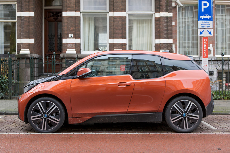 BMW i3 electric car Amsterdam 060114 ©RLLord 7779 smg