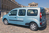 An electric motor powered Renault Kangoo van Z.E. owned by the Chateau de Versailles (Palace of Versailles) on the outskirts of Paris, France photographed on 14 August 2013.  File No. 140813 0503  ©RLLord All Rights Reserved  sustainableguernsey@gmail.com