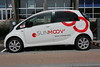 An electric Mitsubishi i-MiEV used by the Sunmoov electric car sharing scheme