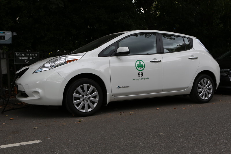 Nissan Leaf in Central Park, New York City
