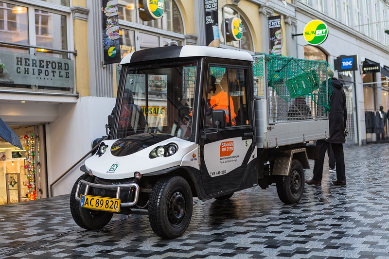 Nomaco electric utility vehicle used by the Municipality of Copenhagen