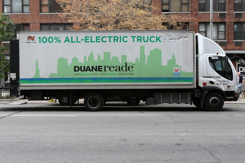 A Smith Electric Vehicles truck operated by Duane Reade in Manhattan, New York