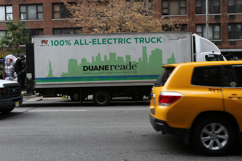Duane Reade 100% electric truck