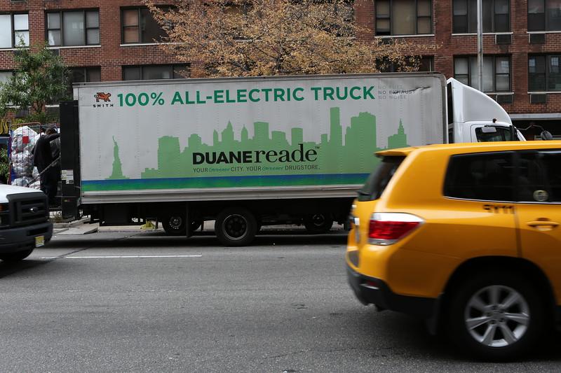 Duane Reade 100% electric truck