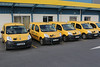 La Poste in Cherbourg, Normandy, France charging electric motor powered Renault Kangoo van Z.E.'s on the evening of 9 April 2014. La Poste, the French postal service, placed an order for 10,000 electric vehicles from Renault in 2011.<br /> <br /> File No. 090414 0321<br /> ©RLLord All Rights Reserved<br /> sustainableguernsey@gmail.com