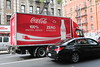Zero emission truck operated by Coca-Cola in Manhattan, New York