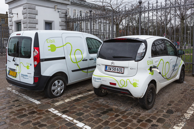 By & Havn electric vehicles at Nordre Toldbod, Copenhagen