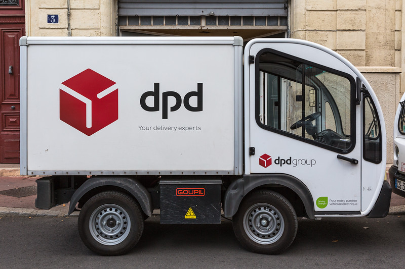 Goupil electric utility vehicle used by DPD Group in Montpellier, France