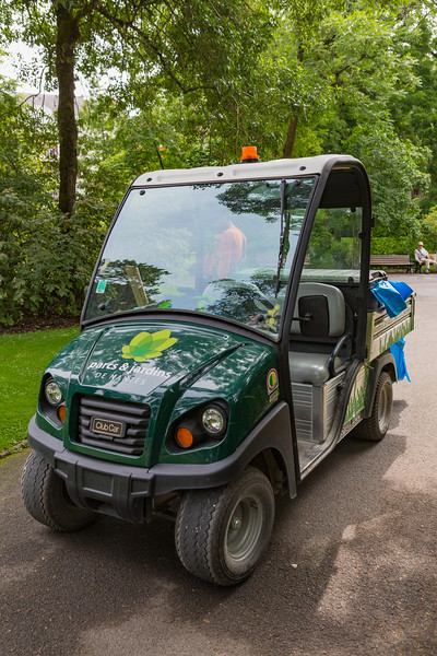 Electric Club Car used by Parcs and Jardins in Nantes, France