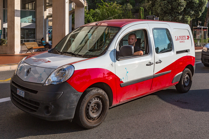 An electric Renault Kangoo Z.E. van used by Monaco postal service