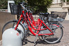 Electric bicycle rental station in Monte Carlo