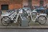 A Gobike electric bike sharing station on Borgergade, Copenhagen