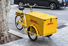DHL electric cargo tricycle in Barcelona, Spain