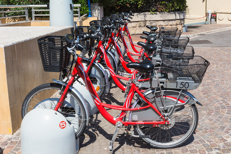 Monte Carlo electric bicycle rental station